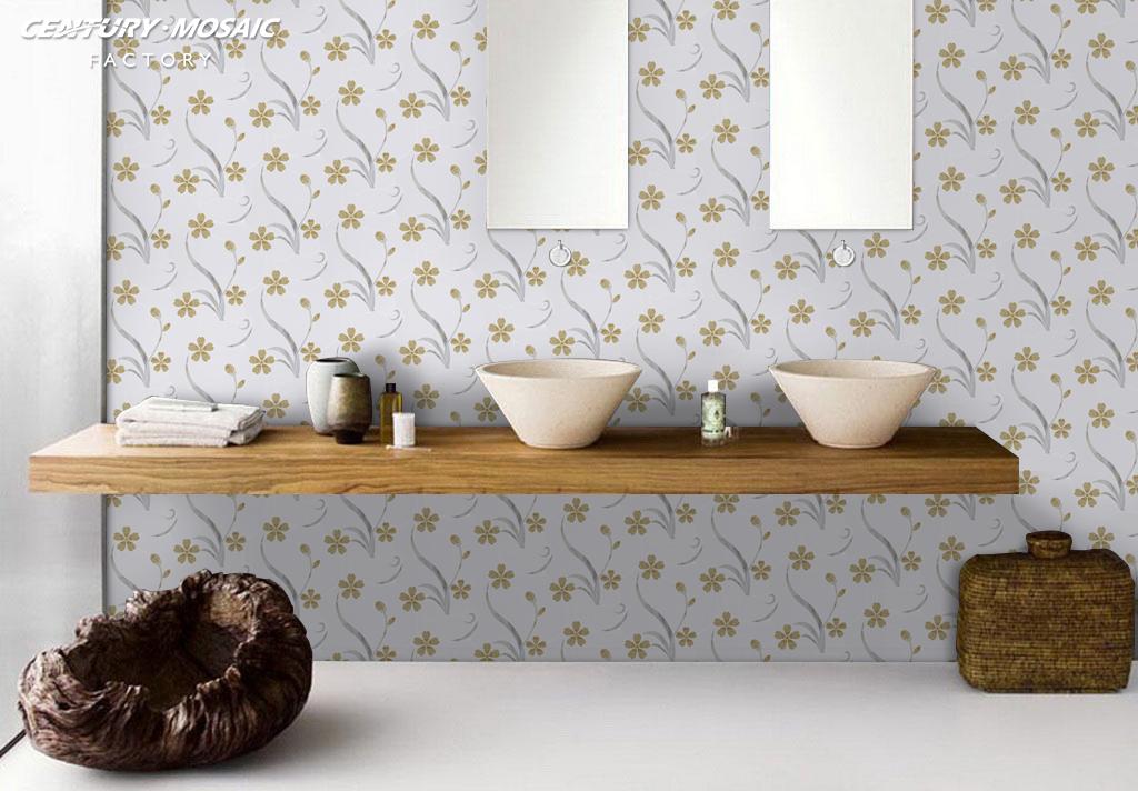 015-Centurymosaic-at-Nuremberg-exhibition-new- design-waterjet-mosaic-orchid