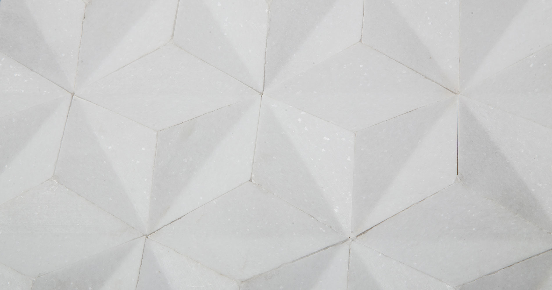 centurymosaic-white-thassos-3D-Rhombus-Marble-Mosaic-Tile-2