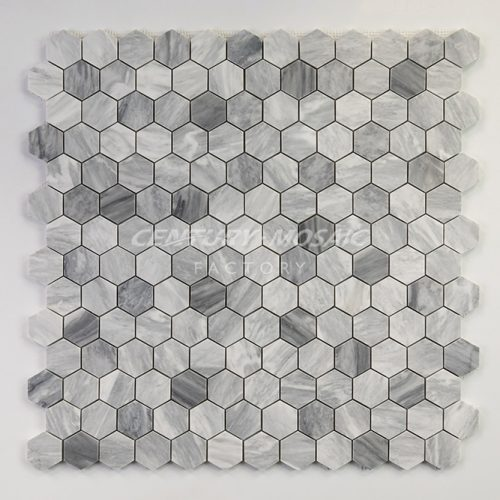 centurymosaic-carrara-gray-1-inch-hexagon-mosaic-tile