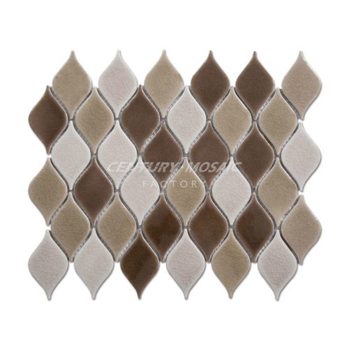 Ceramic Leaf Mosaic Tile