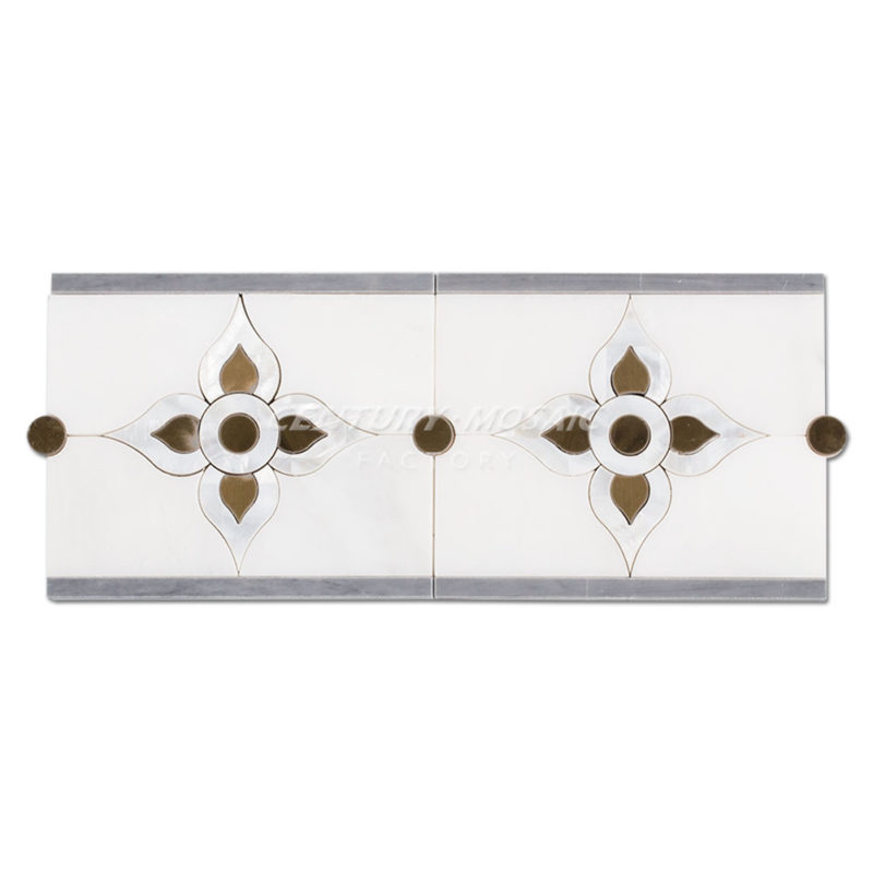 Border-CTR-DS-680A-Statuary-White+Pearl-Shell+Latin-Gray+Stainless-Steel-1