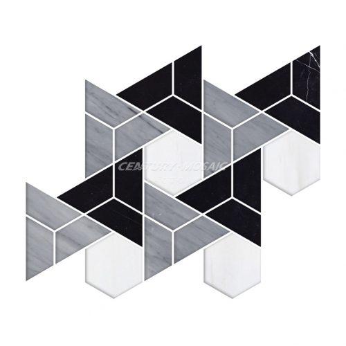 Centurymosaic-Hexagram-Water-Jet-Mosaic-Tile