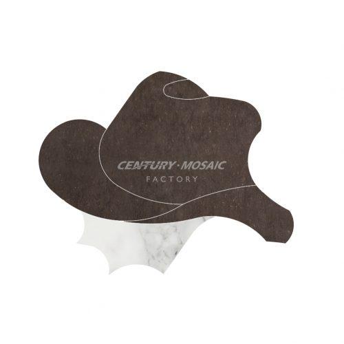 Centurymosaic-Cowboy-Town-Water-Jet-Mosaic-Tile