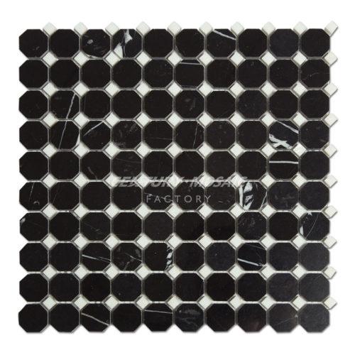 Century-Mosaic-CTR-MM-SC15034-Nero-Marquina-Square-Octagon-Mosaic-1