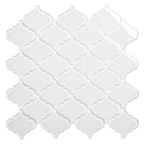 Crystal Glass Arabesque Tile