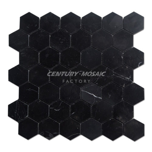 Century-Mosaic-Nero-Marquina-Hexagon-Mosaic-Tile-1