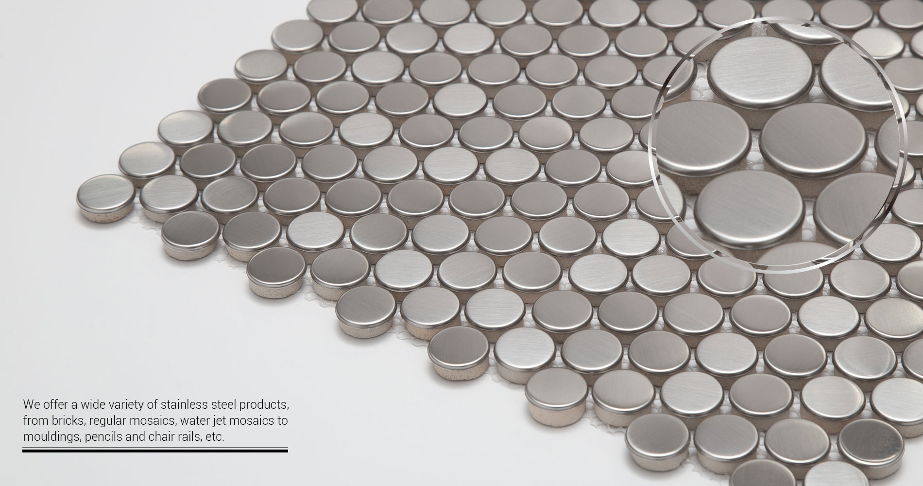 Century-Mosaic-Stainless-Steel-Penny-Round-Mosaic-Tile-Collection