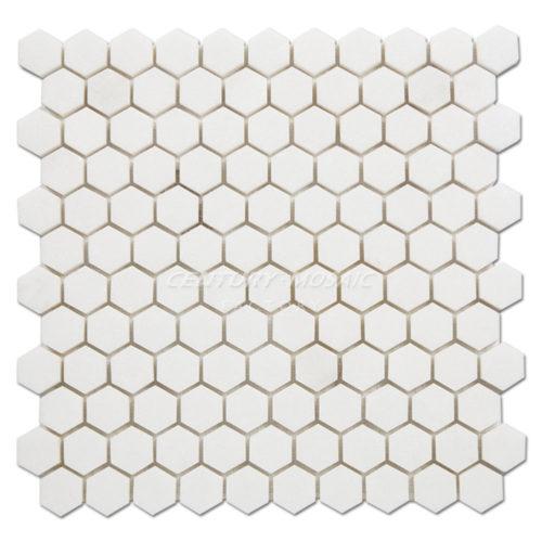 Century-Mosaic-Thassos-White+Hexagon-Mosaic-Tile-1