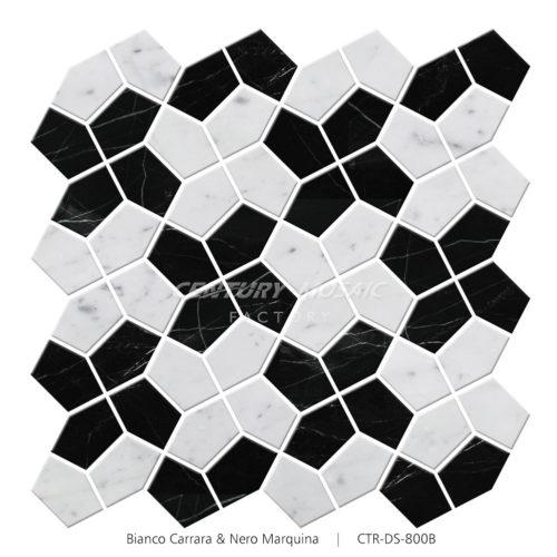Windmill Pattern Mosaic Tile