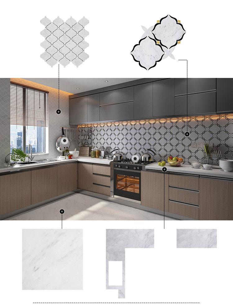 Kitchen Custom Interior Design Carrara Marble Nero Marquina Brass (2)