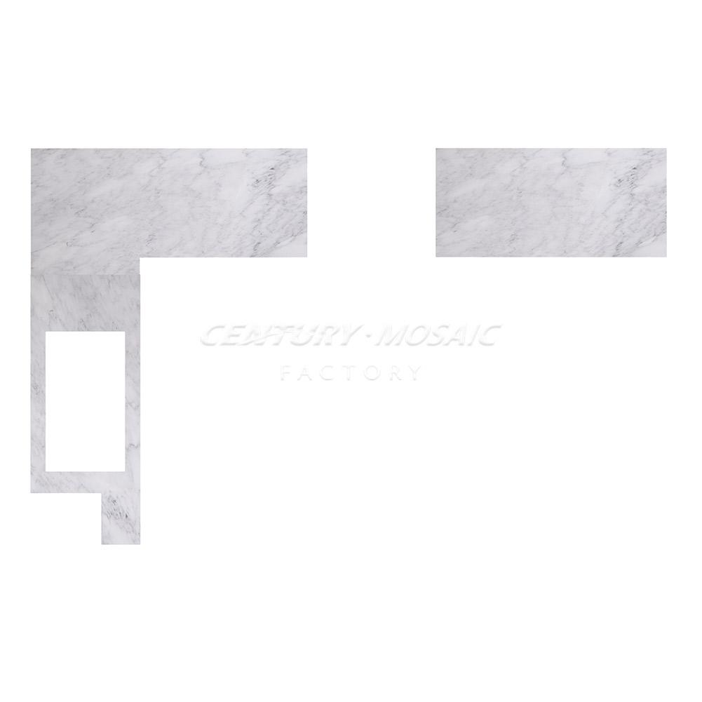 Kitchen Custom Interior Design Carrara Marble Nero Marquina Brass (3)