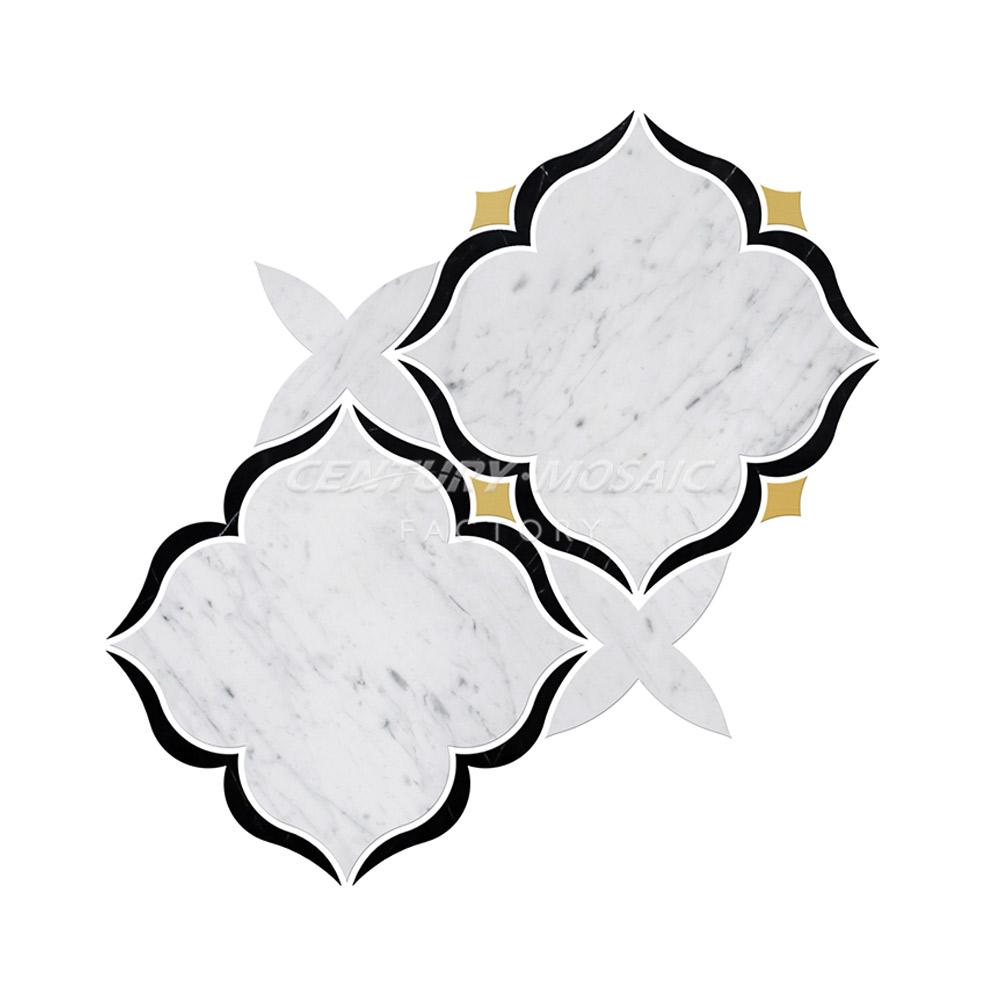 Kitchen Custom Interior Design Carrara Marble Nero Marquina Brass (6)
