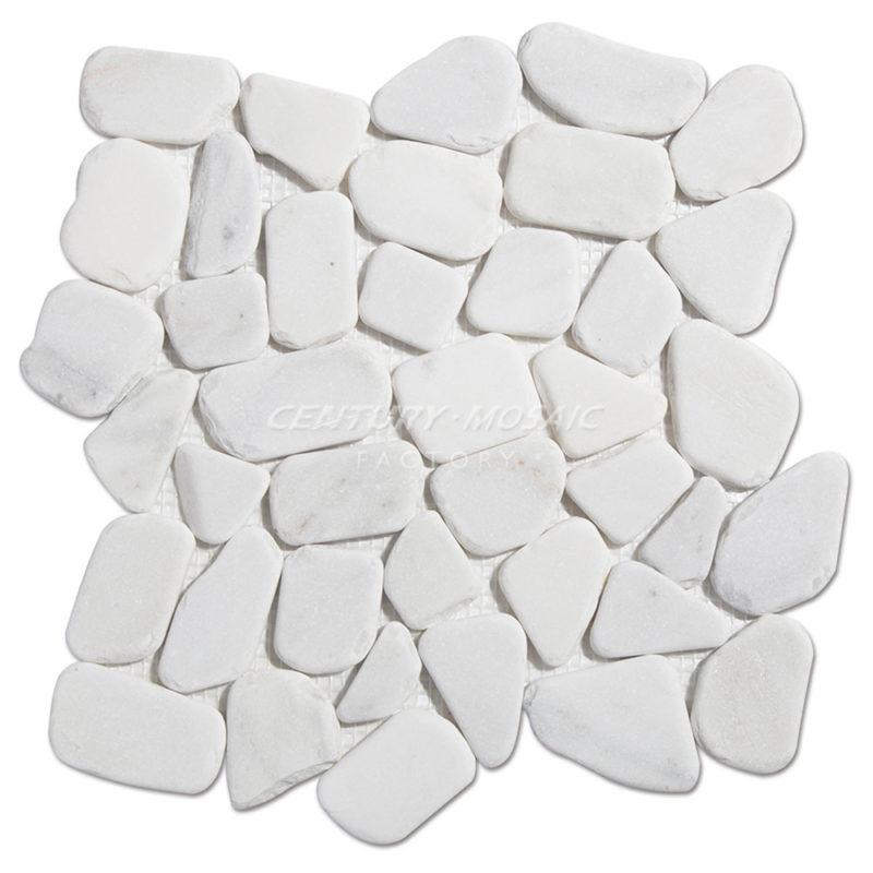 Pebble-Marble Mosaic-Tile-CTR-MM-CS031-Oriental-White-1