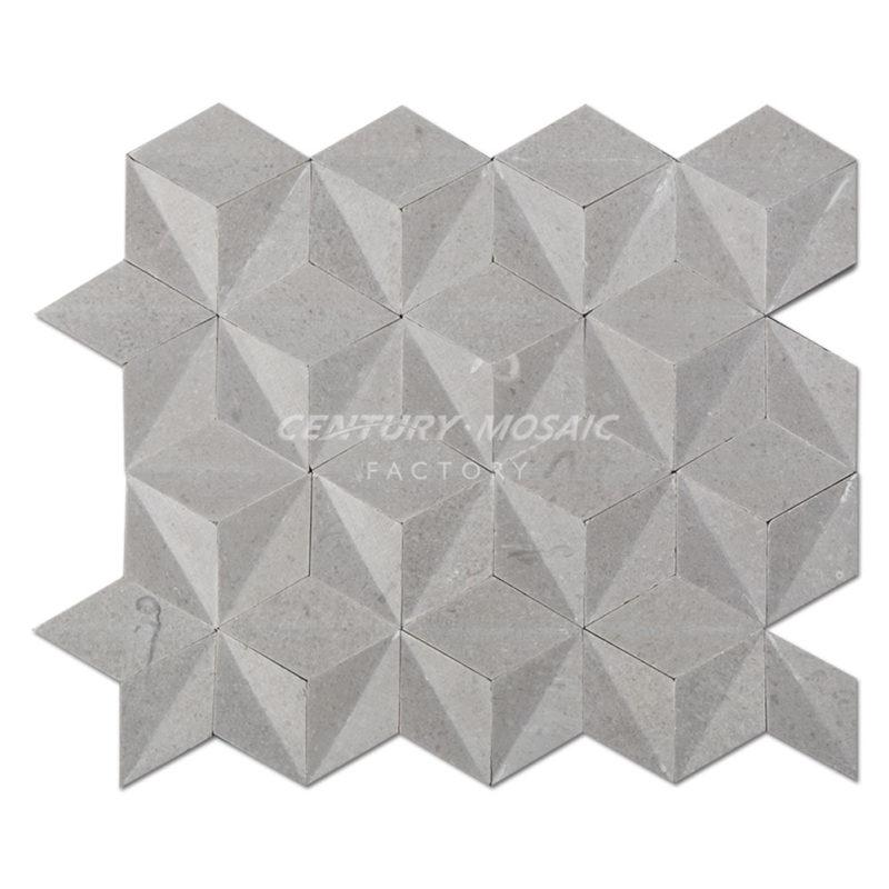Rhombus-Marble-Mosaic-Tile-CTR-MM-D17001-Cinderella-Diamond-1