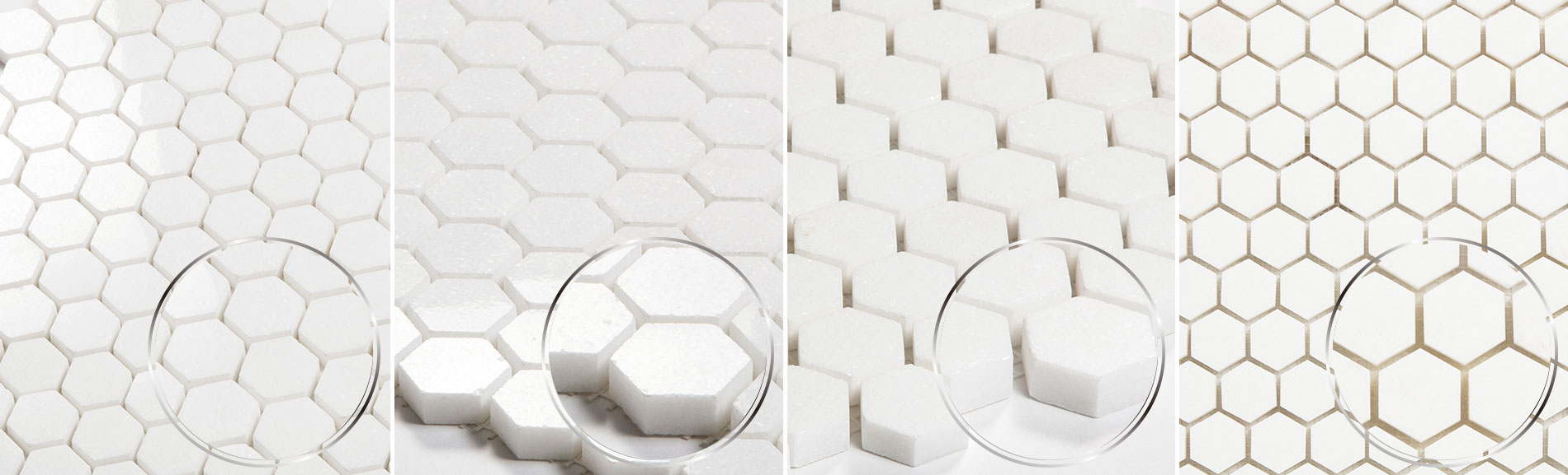 2inch Thassos White Hexagon Mosaic