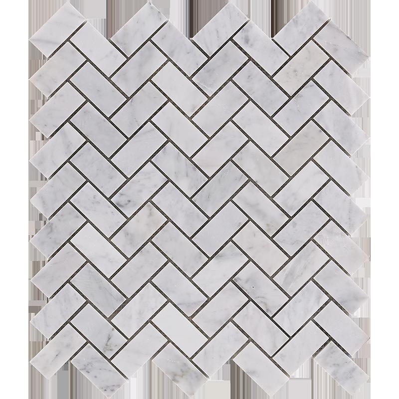 centurymosaic-1-inch-by-2-inch-herringbone-marble-mosaic-tile
