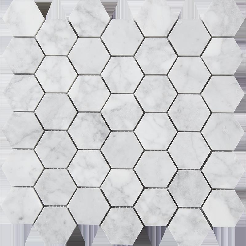 centurymosaic-2-inch-hexagon-marble-mosaic-tile
