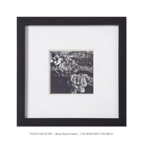 centurymosaic-8x8-Black-Wood-Photo-Frame-1