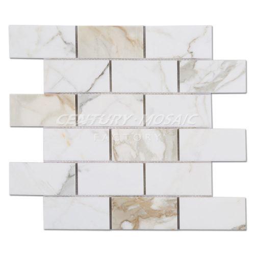 centurymosaic-Calacatta-Gold Brick-Mosaic-1