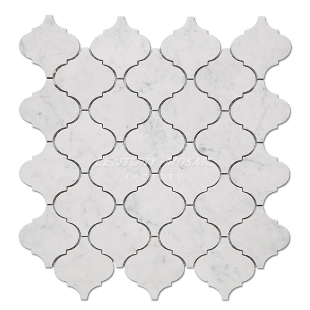 centurymosaic-Carrara-Arabesque-Marble-Mosaic-Tile-Collection-1