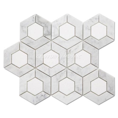 centurymosaic-Hive-Hexagon-Marble-Mosaic-Tile-Collection-1