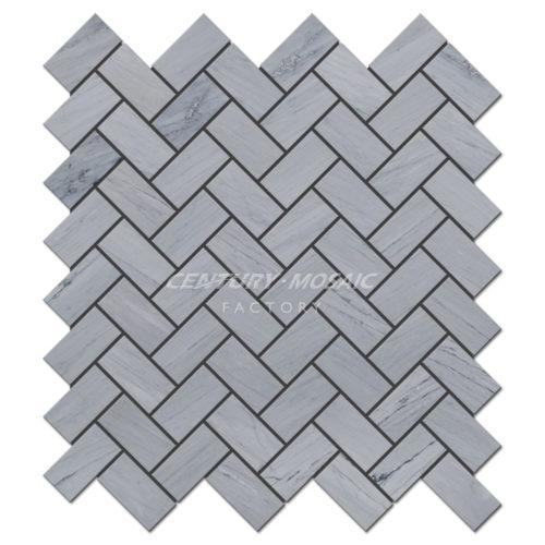 centurymosaic-Latin-Gray-1x2-Herringbone-Marble-Mosaic-Tile-Collection-1