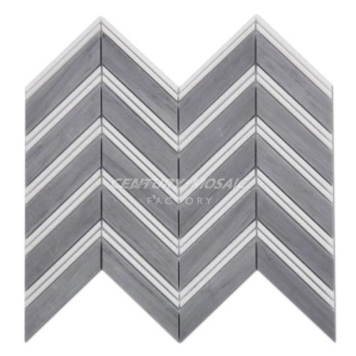 centurymosaic-Latin-Gray-White-Thassos-Marble-Chevron-Mosaic-Tile-1