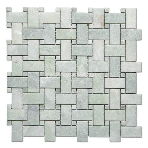 centurymosaic-Ming-Green-Marble-Basketweave-Mosaic-Tile-Collection-1