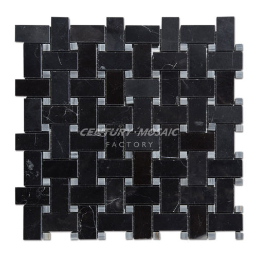 centurymosaic-Nero-Marquina-Marble-Basketweave-Mosaic-Tile-Collection-1