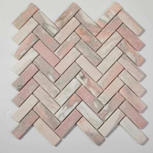 centurymosaic-Norway-Rose-tumbled-herringbone-mosaic