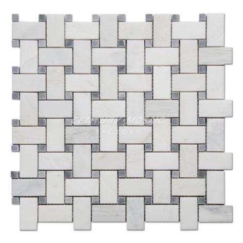centurymosaic-Oriental-White-Marble-Basketweave-Mosaic-Tile-Collection-1