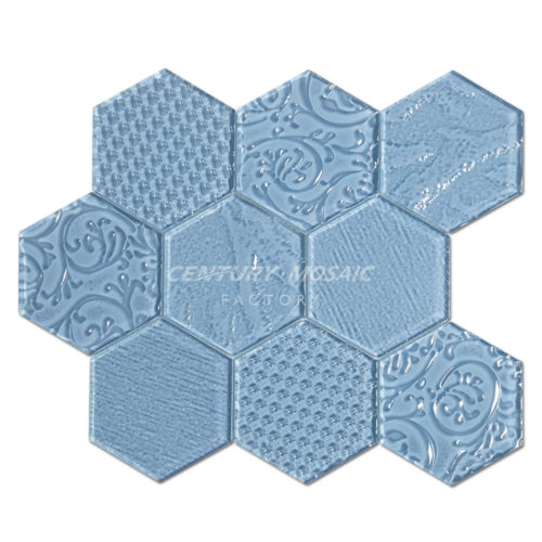 centurymosaic-Relief-Crystal-Glass-Hexagon-Mosaic-Tile-7