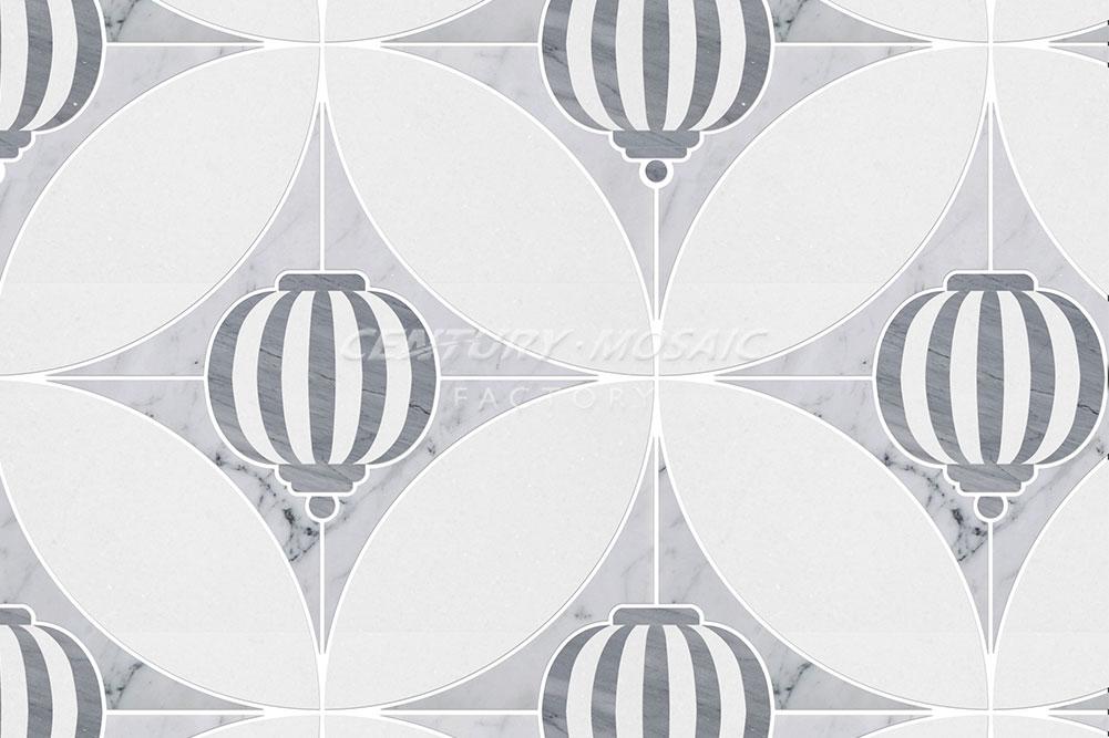 centurymosaic-Sky-Lantern Marble Waterjet Mosaic Tile (2)