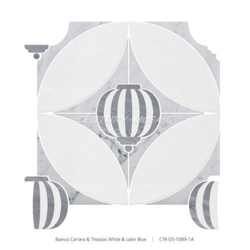 centurymosaic-Sky-Lantern Marble Waterjet Mosaic Tile (3)