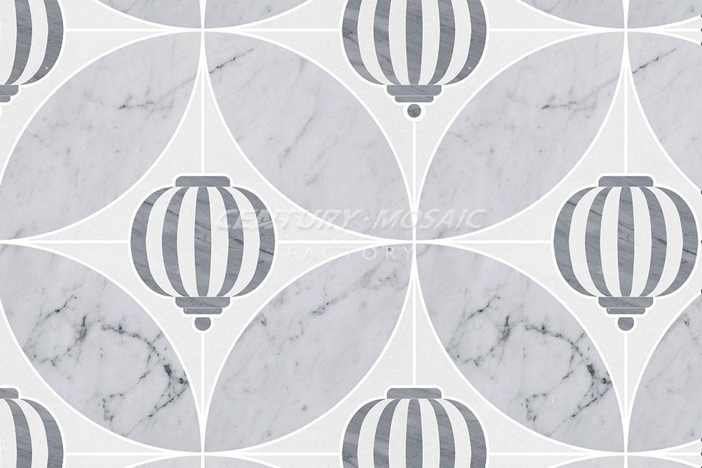 centurymosaic-Sky-Lantern Marble Waterjet Mosaic Tile (4)