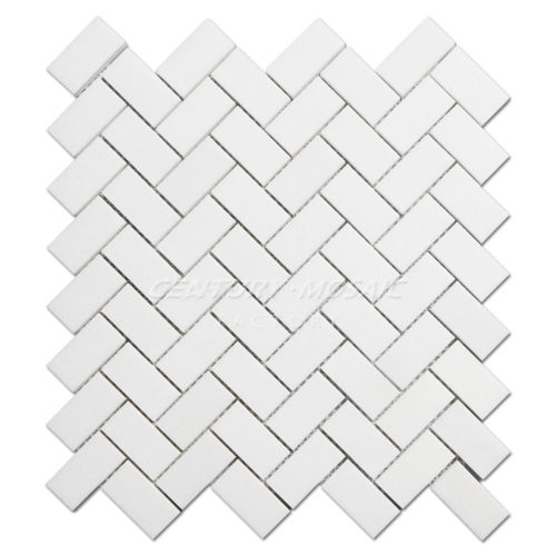 centurymosaic-White-Thassos-1x2-Herringbone-Marble-Mosaic-Tile-Collection-1