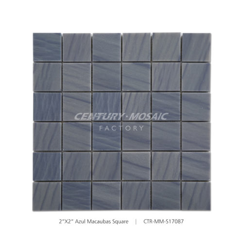 Azul Macaubas Square Marble Mosaic Tile