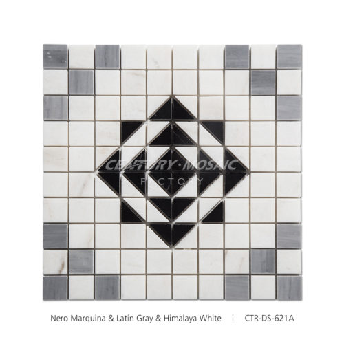 Black Rose Marble Mosaic