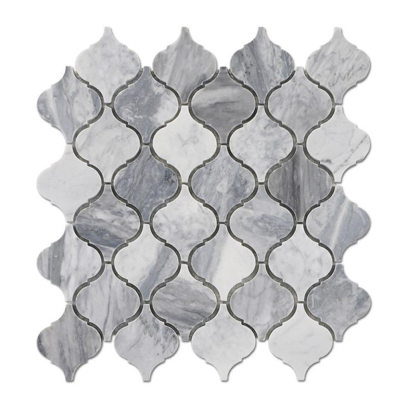 centurymosaic-carrara-gray-Arabesque-mosaic-tile