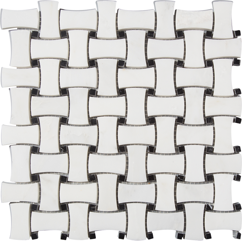centurymosaic-dog-bone-basketweave-marble-mosaic-tile