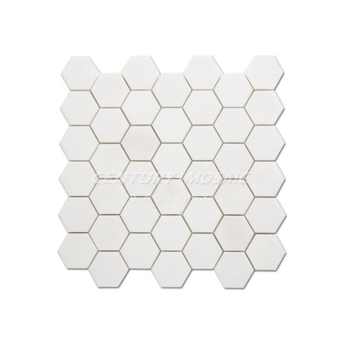 2inch Thassos White Hexagon Mosaic