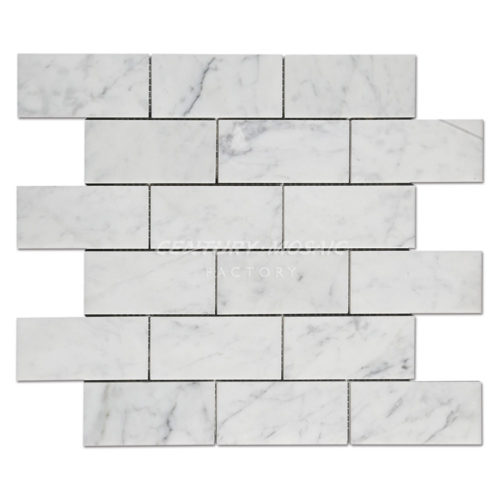 centurymosiac-2x4-Bianco-Carrara-Brick-Mosaic-Tile-Collection-1