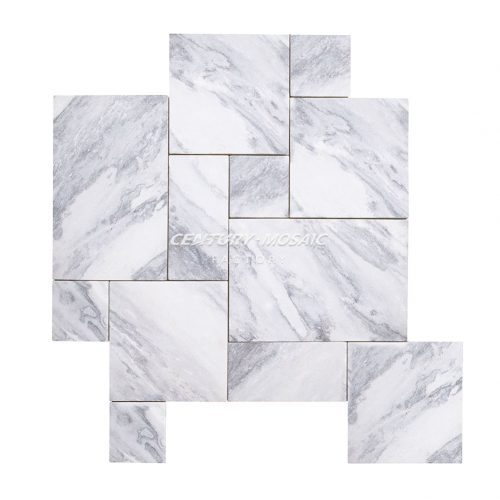 Rainclouds Marble French Pattern Tile
