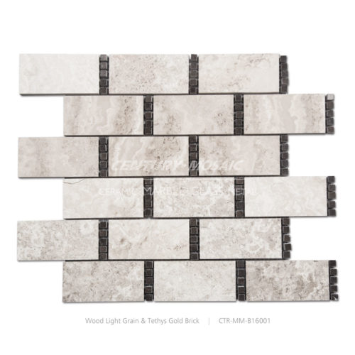 Suger Cube Brick Marble Mosaic Tile